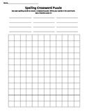 Spelling Word Crossword Puzzle