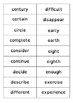 Spelling Word Flash Cards/Checklist - Years 3 & 4 - UK 2014