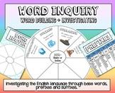 Spelling Word Inquiry wheel - English Language word buildi