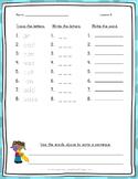 Spelling Word Practice - 1st Grade - Journeys Aligned Unit 2