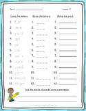 Spelling Word Practice - 1st Grade - Journeys Aligned Unit 5