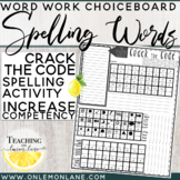 Spelling Word Practice Crack and Create the Super Secret Code Word Work Activity