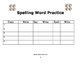 Spelling Word Practice: For 5 Spelling Words
