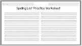 Spelling Word Practice Handwriting Worksheet