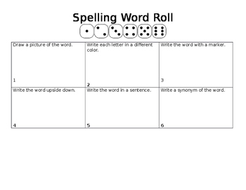 Spelling Word Roll