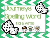 Spelling Word Roll & Write First Grade Journeys Common Core