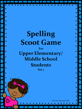 Spelling Word Scoot for Middle School Students