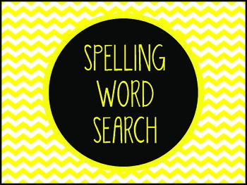 Spelling Word Search
