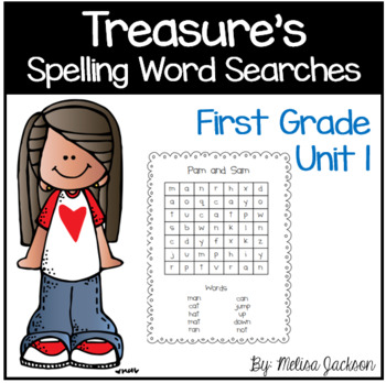 Spelling Word Searches Unit 1 Macmillan/McGraw-Hill Treasures Series