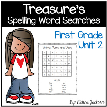 Spelling Word Searches Unit 2 Macmillan/McGraw-Hill Treasures First Grade
