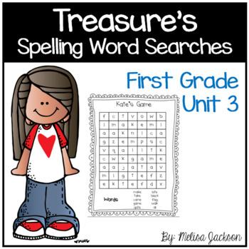 Spelling Word Searches Unit 3 Macmillan/McGraw-Hill Treasu