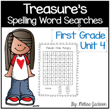 Spelling Word Searches Unit 4 Macmillan/McGraw-Hill Treasures First Grade