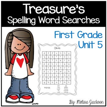 Spelling Word Searches Unit 5 Macmillan/McGraw-Hill Treasures First Grade