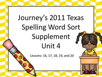 Spelling Word Sort Bundle Unit 4