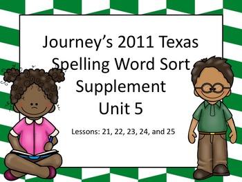 Spelling Word Sort Bundle Unit 5