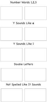 Spelling Word Sort Game 4