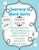 Fourth Grade Journeys Spelling Word Sorts Units 1-18