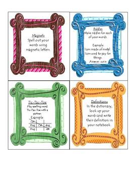 Spelling Word Task Cards