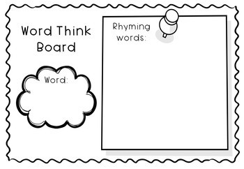 #luckydeals Spelling Word 'Think Boards' for Word Work