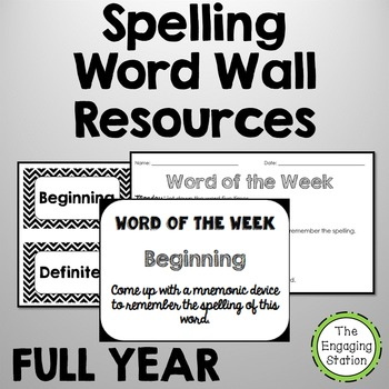 Spelling Word Wall Resources