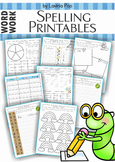 Spelling Word Work - 17 printable worksheets
