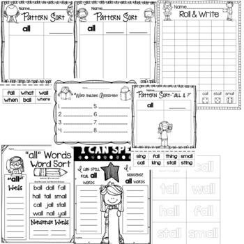 Spelling & Word Work: ALL- Week 11