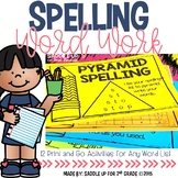 Spelling Word Work Activities