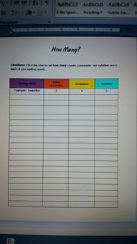 Spelling/Word Work Activities