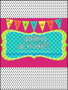 Spelling Word Work Activities Galore! {40+ activities for all learners}