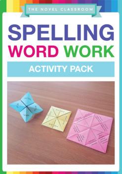 Spelling Word Work Activity Pack