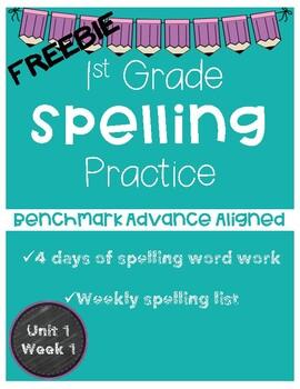 Spelling Word Work - Benchmark Advance - 1st Grade