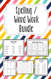 Spelling / Word Work Bundle Full Year - TEKS 2nd Grade