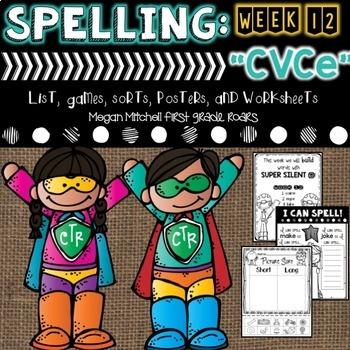 Spelling & Word Work: CVCe Super Silent E- Week 12