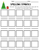 Spelling Word Work Choice Board (December)