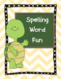 Spelling Word Work Fun