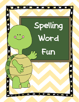 Spelling Word Work Fun