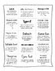 Spelling/Word Work Mini Games Menu