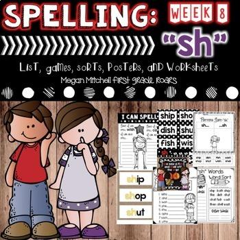 Spelling & Word Work: SH- Week 8