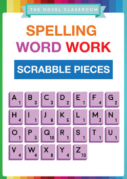 Spelling Word Work Scrabble Pieces