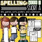 Spelling & Word Work: Short A- Week 1