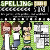 Spelling & Word Work Short I Week 2