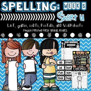 Spelling & Word Work: Short U- Week 5