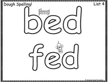 Spelling & Word Work Station Activities List 4 Short E Words- TEKS Based