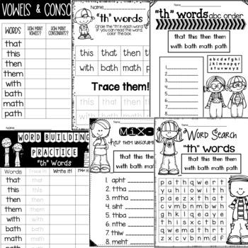 Spelling & Word Work: TH- Week 6
