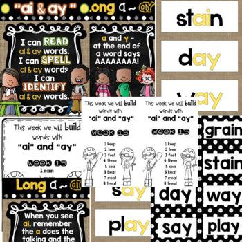 Spelling & Word Work: ai & ay - Week 14