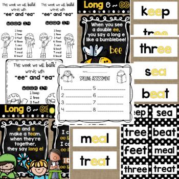 Spelling & Word Work: ea & ee - Week 13