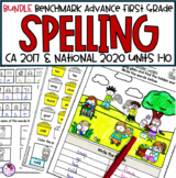 Spelling Word Work for use with Benchmark Advance First Grade BUNDLE Units 1-10