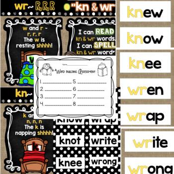"""Spelling & Word Work: """"kn"""" & """"wr"""" - Week 24"""