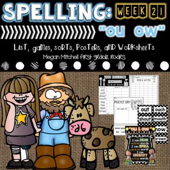 Spelling & Word Work: ow & ou - Week 20