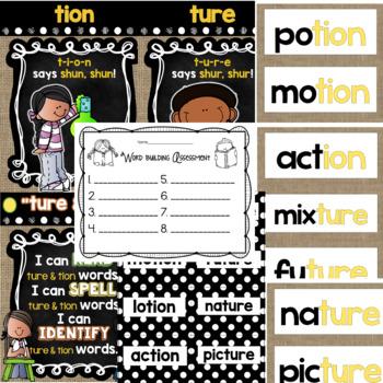 """Spelling & Word Work: """"tion"""" & """"ture"""" - Week 32"""